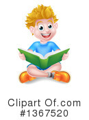 Royalty-Free (RF) Reading Clipart Illustration #1367520