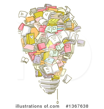 Library Clipart #1367638 by BNP Design Studio