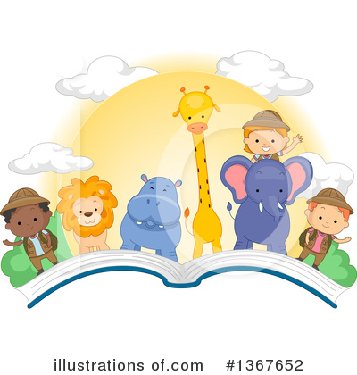 Royalty-Free (RF) Reading Clipart Illustration by BNP Design Studio - Stock Sample #1367652