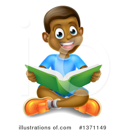 Reading Clipart #1371149 by AtStockIllustration