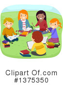 Reading Clipart #1375350 by BNP Design Studio