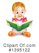 Reading Clipart #1395122 by AtStockIllustration
