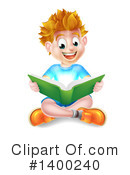 Reading Clipart #1400240 by AtStockIllustration