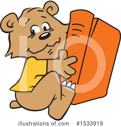 Reading Clipart #1533919 by Johnny Sajem