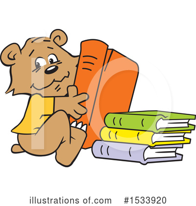 Reading Clipart #1533920 by Johnny Sajem