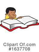 Reading Clipart #1637708 by Johnny Sajem