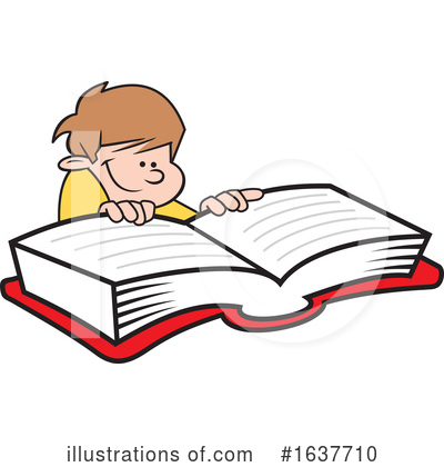 Reading Clipart #1637710 by Johnny Sajem