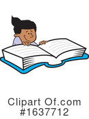 Reading Clipart #1637712 by Johnny Sajem