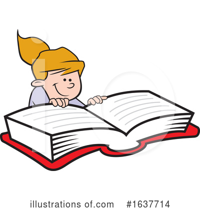 Reading Clipart #1637714 by Johnny Sajem