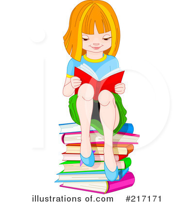 Reading Clipart #217171 by Pushkin