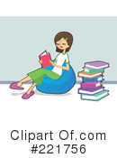 Royalty-Free (RF) Reading Clipart Illustration #221756