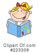 Reading Clipart #223308 by Hit Toon