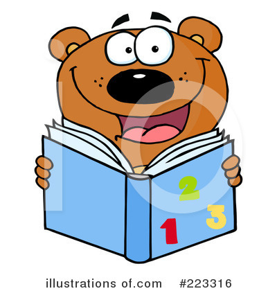 Reading Clipart #223316 by Hit Toon