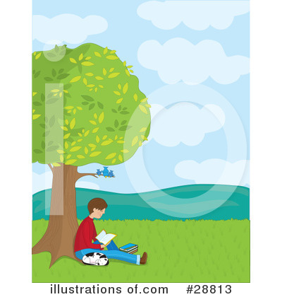 Royalty-Free (RF) Reading Clipart Illustration by Maria Bell - Stock Sample #28813