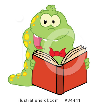 Book Worm Clipart #34441 by Hit Toon