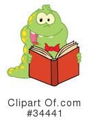 Reading Clipart #34441 by Hit Toon