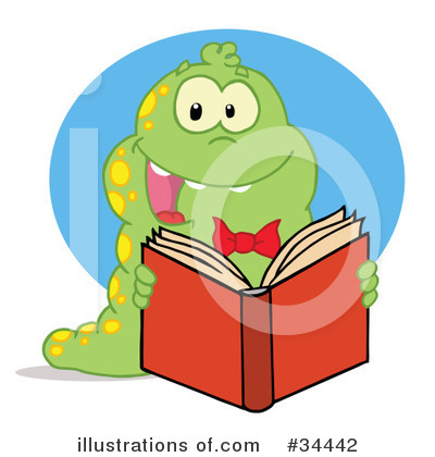 Book Worm Clipart #34442 by Hit Toon