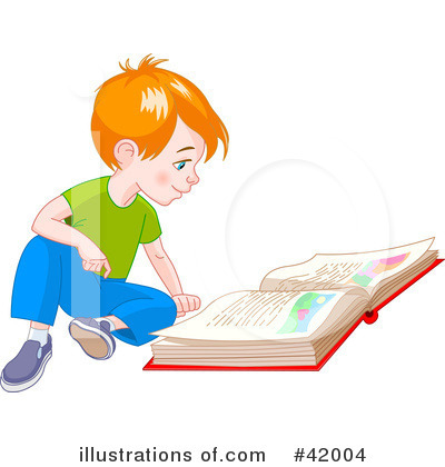 Reading Clipart #42004 by Pushkin