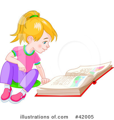 Royalty-Free (RF) Reading Clipart Illustration by Pushkin - Stock Sample #42005
