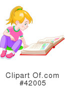 Reading Clipart #42005 by Pushkin