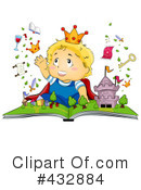 Royalty-Free (RF) reading Clipart Illustration #432884