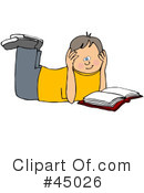 Reading Clipart #45026 by djart
