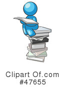 Royalty-Free (RF) Reading Clipart Illustration #47655