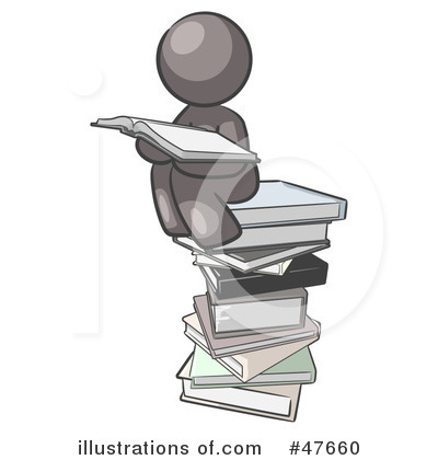 Royalty-Free (RF) Reading Clipart Illustration by Leo Blanchette - Stock Sample #47660
