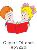 Reading Clipart #59223 by Alex Bannykh