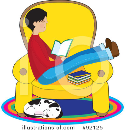 Royalty-Free (RF) Reading Clipart Illustration by Maria Bell - Stock Sample #92125