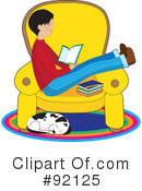 Royalty-Free (RF) Reading Clipart Illustration #92125