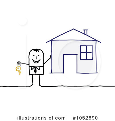Royalty-Free (RF) Real Estate Clipart Illustration by NL shop - Stock Sample #1052890