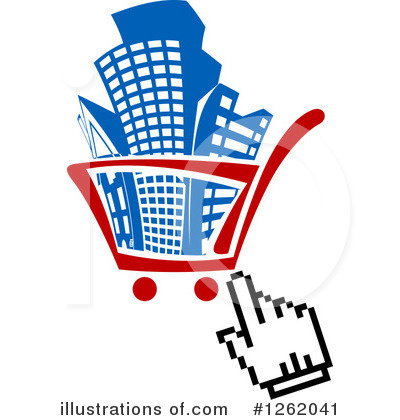 Shopping Cart Clipart #1262041 by Vector Tradition SM