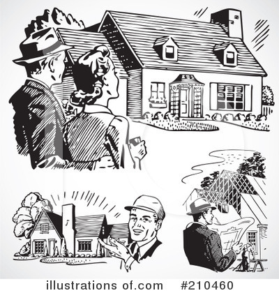 Royalty-Free (RF) Real Estate Clipart Illustration by BestVector - Stock Sample #210460