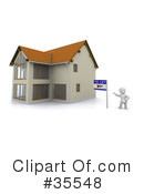 Royalty-Free (RF) Real Estate Clipart Illustration #35548