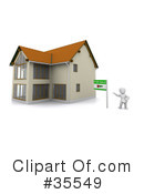 Royalty-Free (RF) Real Estate Clipart Illustration #35549