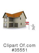 Royalty-Free (RF) Real Estate Clipart Illustration #35551