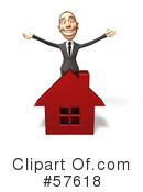 Royalty-Free (RF) Real Estate Clipart Illustration #57618