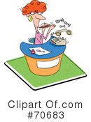 Receptionist Clipart #70683 by jtoons