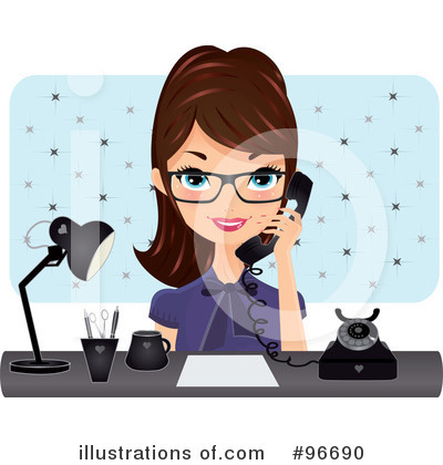 Secretary Clipart #96690 by Melisende Vector