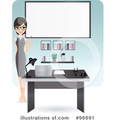 Receptionist Clipart #96691 by Melisende Vector
