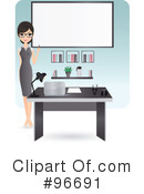 Royalty-Free (RF) Receptionist Clipart Illustration #96691