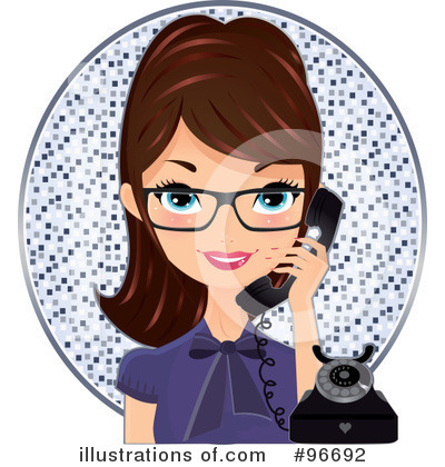 Receptionist Clipart #96692 by Melisende Vector