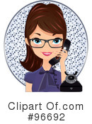 Royalty-Free (RF) receptionist Clipart Illustration #96692