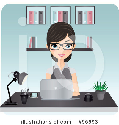 Receptionist Clipart #96693 by Melisende Vector