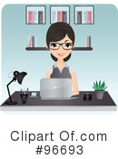 Royalty-Free (RF) receptionist Clipart Illustration #96693