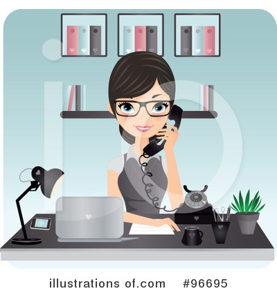 Secretary Clipart #96695 by Melisende Vector
