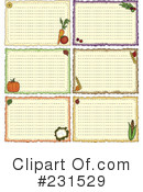 Recipe Card Clipart #231529 by inkgraphics