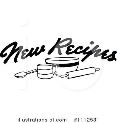 1112531 Royalty Free Recipes Clipart Illustration