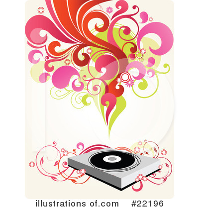 Royalty-Free (RF) Record Player Clipart Illustration by OnFocusMedia - Stock Sample #22196